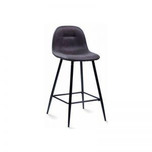 Pusbario kėdė CONNY 44x54x85h tamsiai pilka