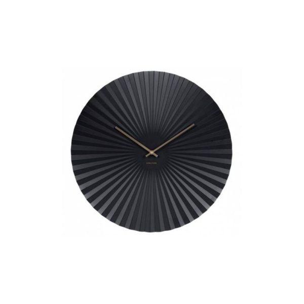 Laikrodis SENSU XL Ø50 metalinis juodas