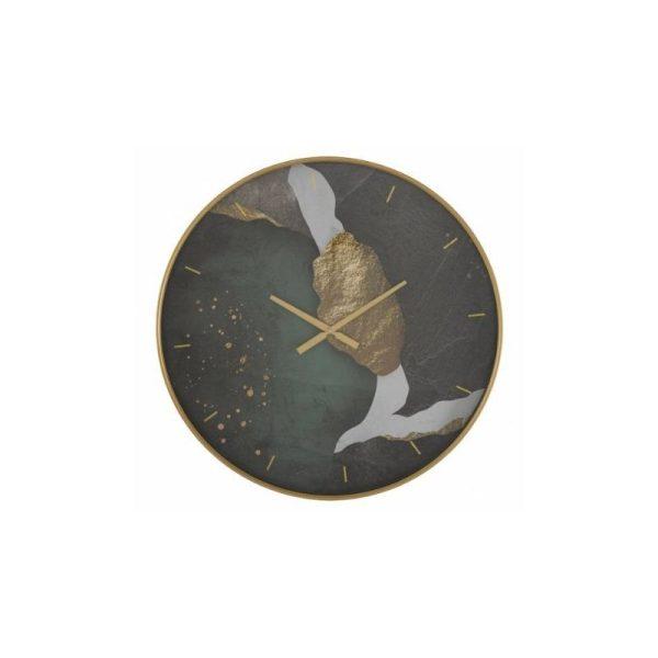 Laikrodis ART Ø80 žemės spalvų su auksu