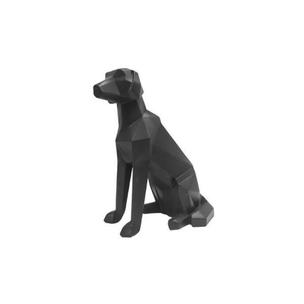 Dekoracija ORIGAMI DOG 23x25.4h juoda