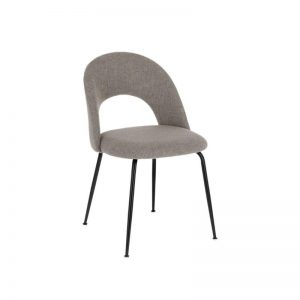 Kėdė MAHALIA 51x52x79h šviesiai pilka