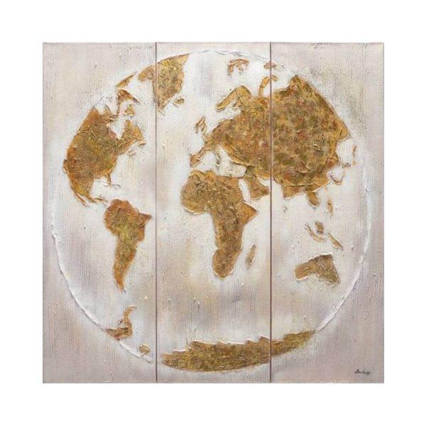 Paveikslas GOLD MAP 120x120h