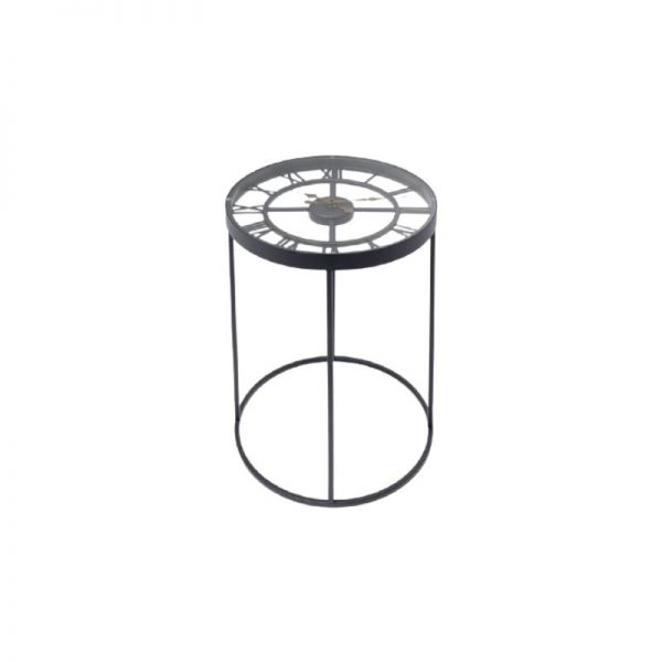 Šoninis staliukas ROMAN Ø41.5x41.5x56h juodas