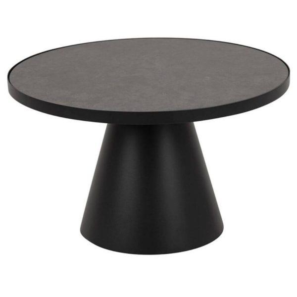 Kavos staliukas ILOS Ø65.7x40h juodas