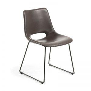 Kėdė ZIGGY 49x55x79h tamsiai ruda