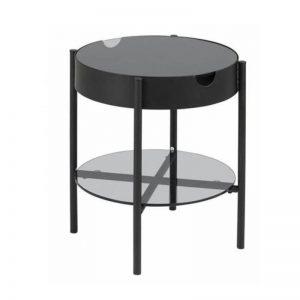 Šoninis staliukas PAOLA Ø45x50h juodas