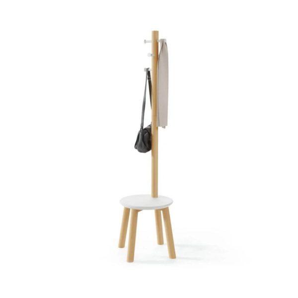 Rūbų kabykla kėdė PILLAR 40x167h balta