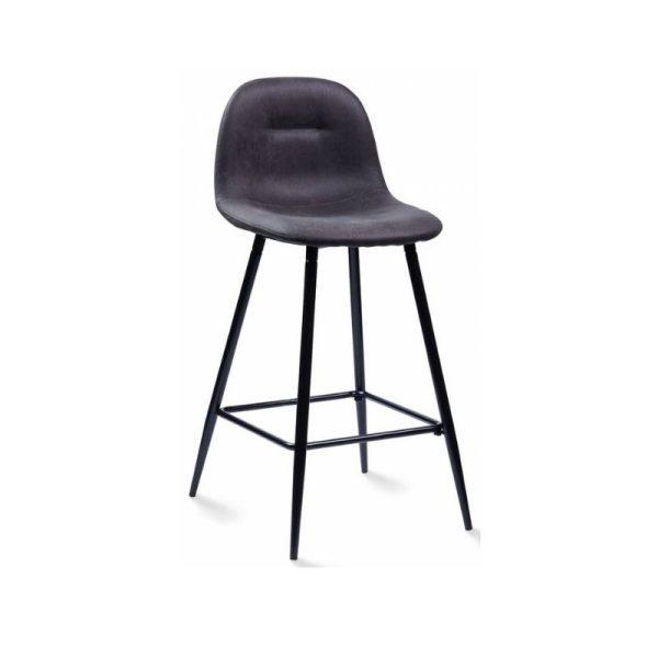 Pusbario kėdė CONNY 47x50x88h tamsiai pilka