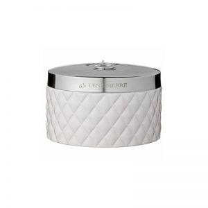 Dėžutė indelis PORTIA Ø15x9h keramikinis baltas