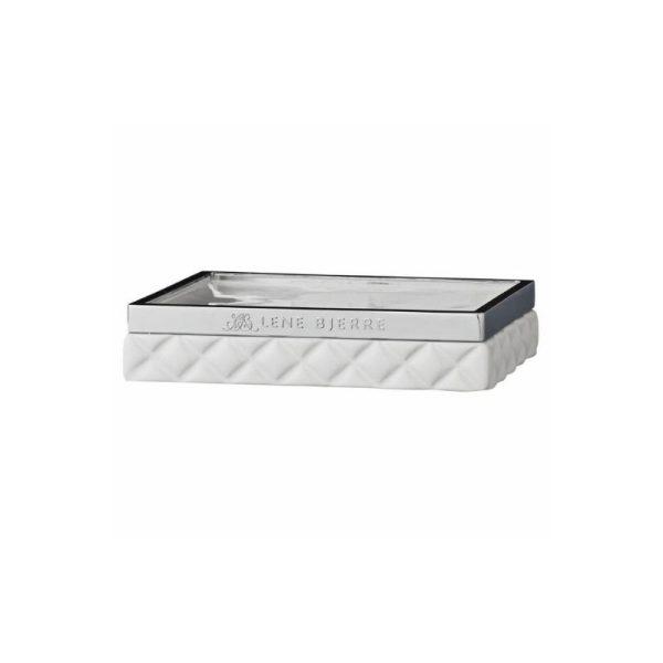 Muilinė PORTIA 13x10x3h balta su sidabru