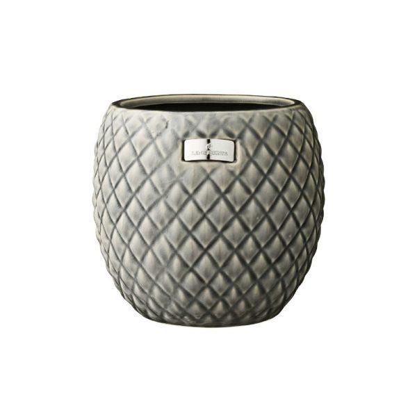 Vazonas ROSABELLE Ø18x18h keramikinis pilkas