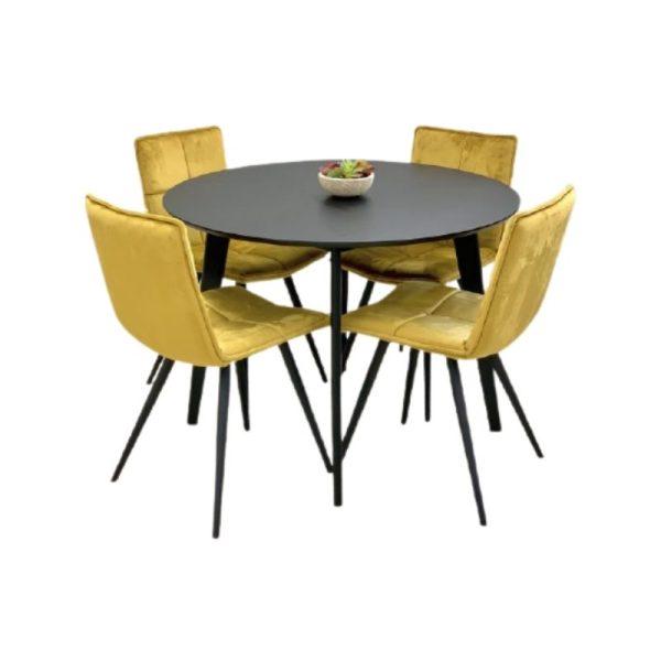 Apvalus stalas ROXBY Ø105 juodos spalvos