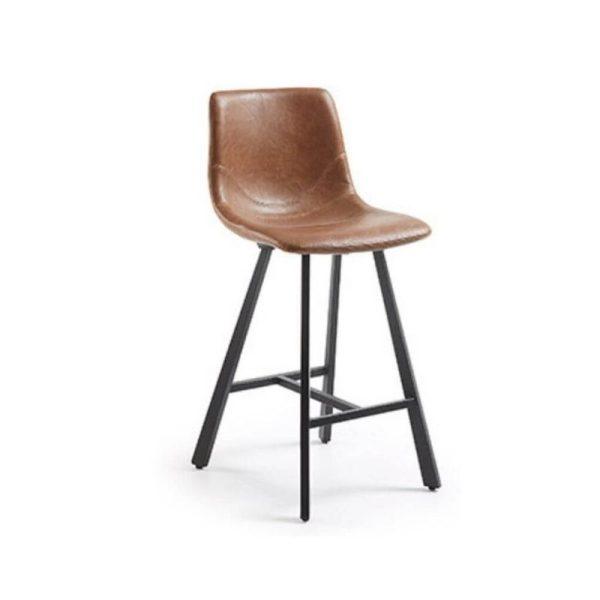 Pusbario kėdė TRAP 43x55x92h konjako ruda