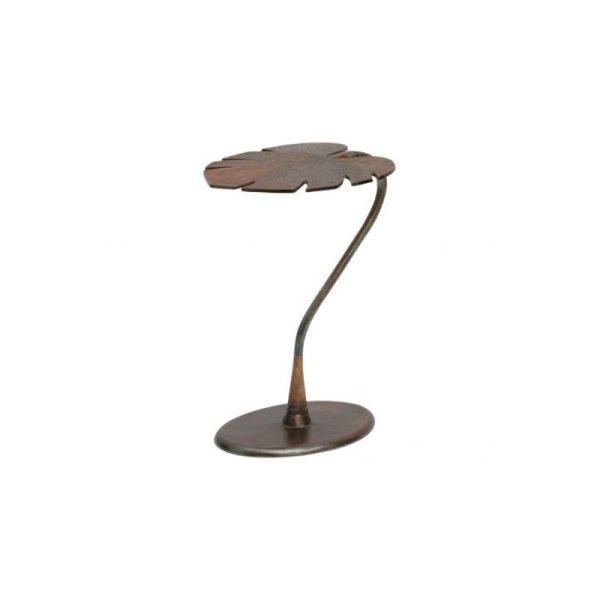 Šoninis staliukas STYLISH 42x35x57h auksinis metalinis