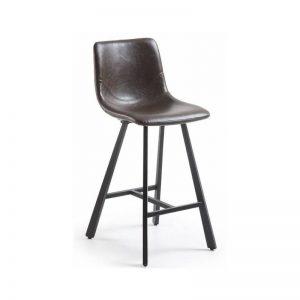 Pusbario kėdė TRAP 43x55x92h tamsiai ruda