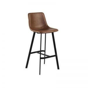 Pusbario kėdė OREGON 43.5x50x91h konjako ruda