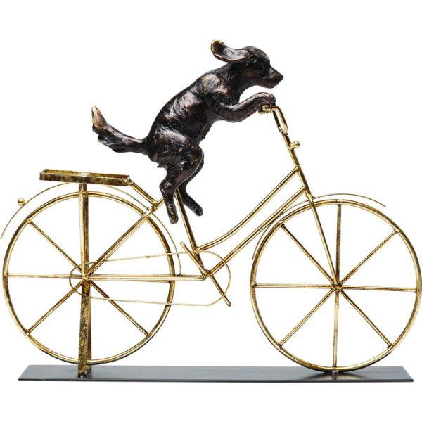 Dekoracija Šuo su dviračiu 44x7.5x35.5h