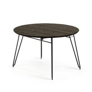 Išskleidžiamas stalas NORFORT 120(200)x120cm juodai pilkas