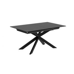 Išskleidžiamas stalas ATMINDA 160(210)x90cm juodas stiklas
