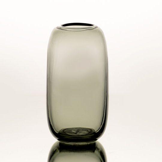 Vaza MILA 13x22h dūminio stiklo