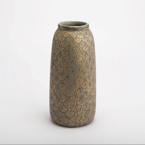 Vaza CAPUCINE Ø15x30h aukso ir turkio