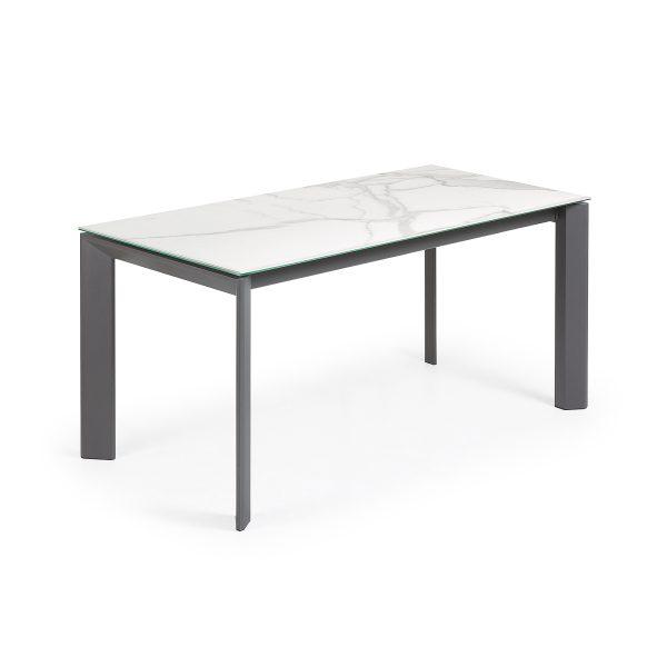 Išskleidžiamas stalas ATTA 160(220)x90cm Kalos Blanco