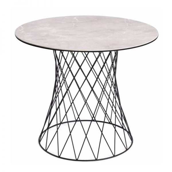 Apvalus stalas RETE Ø100cm dūmo spalva
