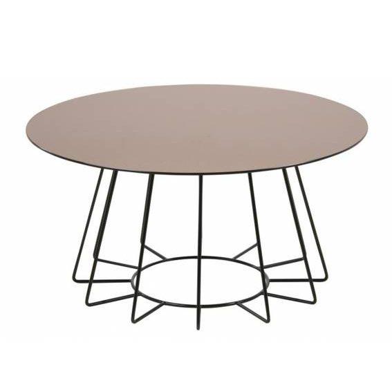 Kavos staliukas CASIA 80x40h bronzinis