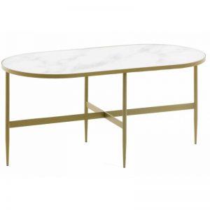 Kavos staliukas ELISENDA 100x50x45h baltas