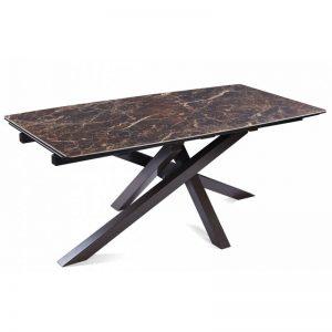 Išskleidžiamas stalas ARTISTICO 180(260)x90x75h rudai margas