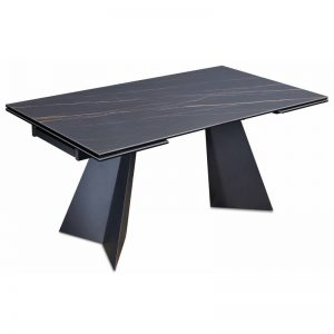 Išskleidžiamas stalas DORIANO 160(240)x90x76h juodas