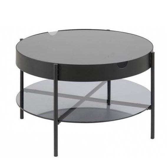 Kavos staliukas PAOLA Ø75x45h juodas