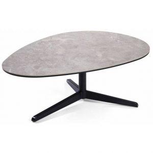 Kavos staliukas KARLEY 105x75x37h šviesiai pilkas