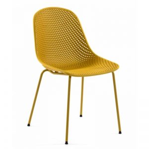Kėdė QUINBY 46x58x82h geltona spalva