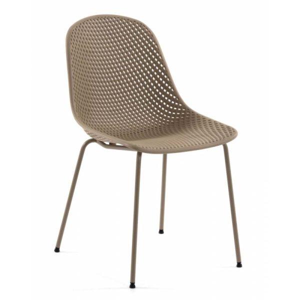 Kėdė QUINBY 46x58x82h rusvai kreminė