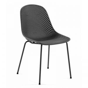 Kėdė QUINBY 46x58x82h tamsiai pilka