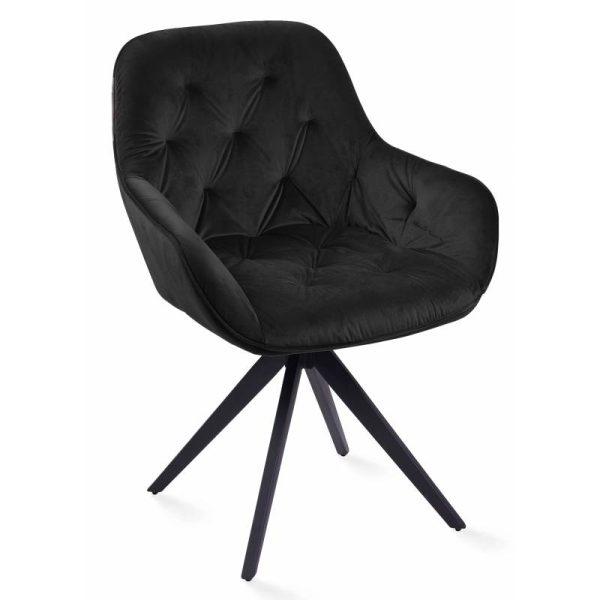 Krėsliukas MOON 59x60x60h juodas