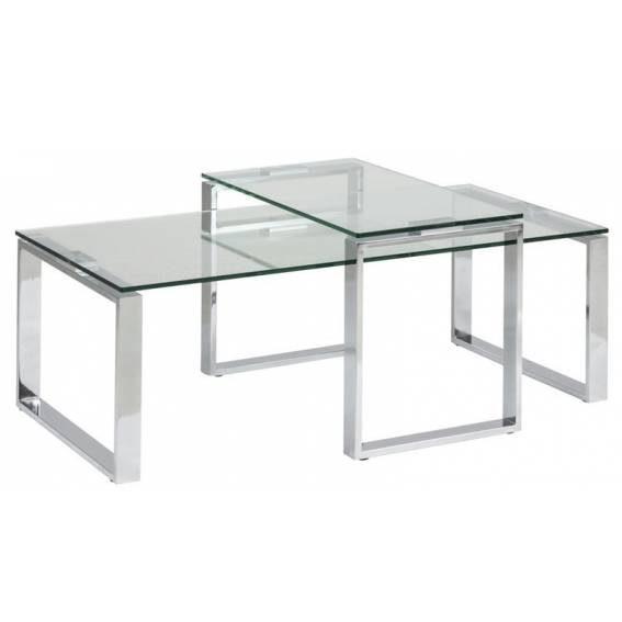 Kavos staliukas KRETA 115x65x45h skaidraus stiklo