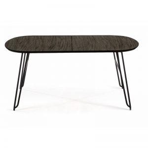 Išskleidžiamas stalas MILIAN 140(220)x90x75h juodai pilkas