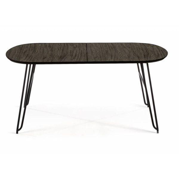 Išskleidžiamas stalas NORFORT 140(220)x90x75h juodai pilkas