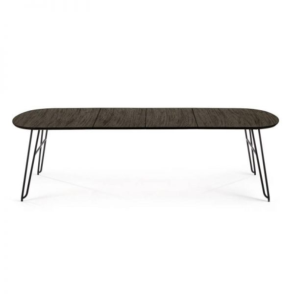 Išskleidžiamas stalas NORFORT 170(320)x100x75h juodai pilkas