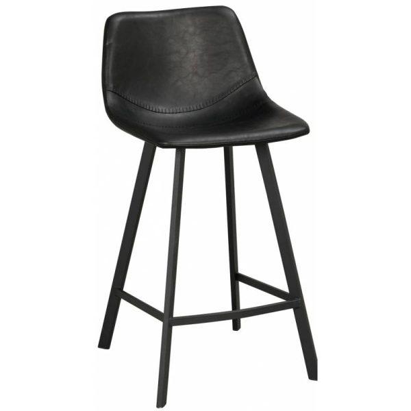 Pusbario kėdė 45x50x89h ALPHA juoda