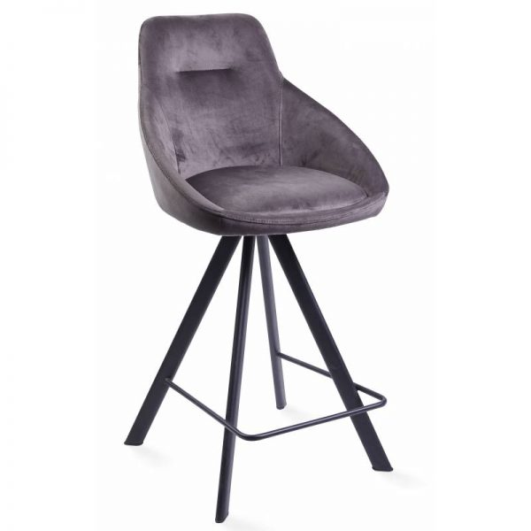 Pusbario kėdė ALUMNA 50x55x98h tamsiai pilka