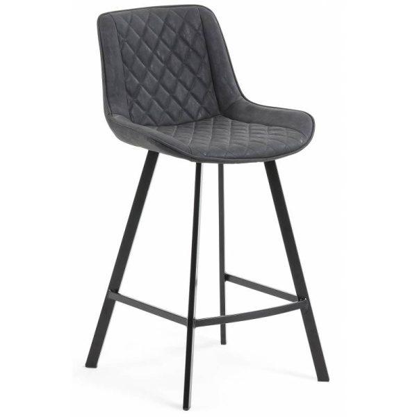 Pusbario kėdė ARIAN 50x53x95h tamsiai pilka