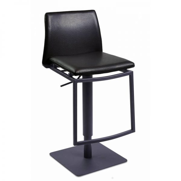 Pusbario kėdė ARON 43x51x82-107h juoda