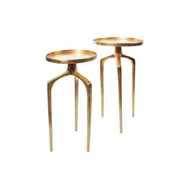 Šoninių staliukų komplektas ABSTRACK aukso 2vnt.