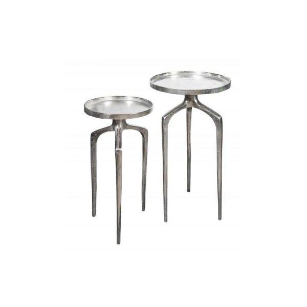 Šoninių staliukų komplektas ABSTRACK sidabro 2vnt.