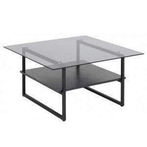 Kavos staliukas OKAYA 80x80x42h dūminio stiklo