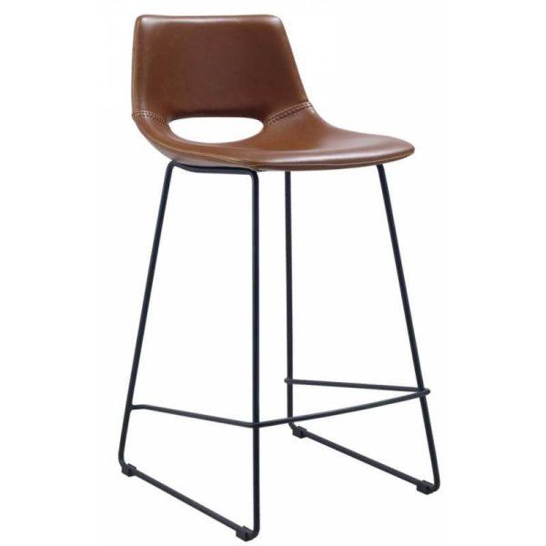 Baro kėdė ZIGGY 47x50x98h konjako ruda