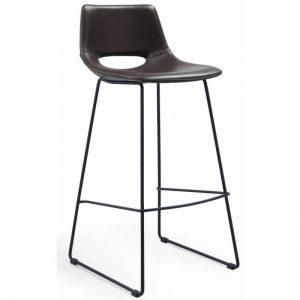Baro kėdė ZIGGY 47x50x98h tamsiai ruda